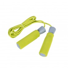 Скакалка  LiveUP  PVC FOAM HANDLE JUMP ROPE  желтый LS3118