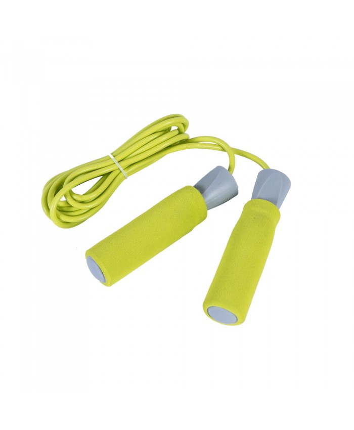 Скакалка LiveUP PVC FOAM HANDLE JUMP ROPE жовтий LS3118