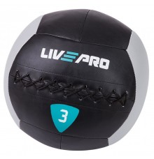 Мяч для кроcсфита  LivePro  WALL BALL 3 кг черный/серый LP8100-3