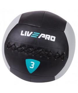 м'яч для кроcсфіта LivePro WALL BALL 3 кг чорний / сірий LP8100-3