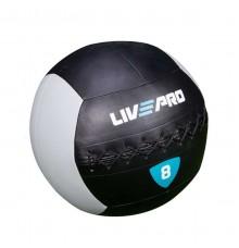 Мяч для кросcфита  LivePro  WALL BALL 8 кг черный/серый LP8100-8