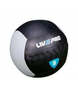 м'яч для кросcфіта LivePro WALL BALL 8 кг чорний / сірий LP8100-8