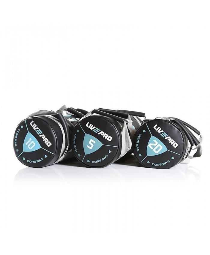 Мішок для кросфіту LivePro POWER BAG 15 кг чорний / сірий LP8120-15