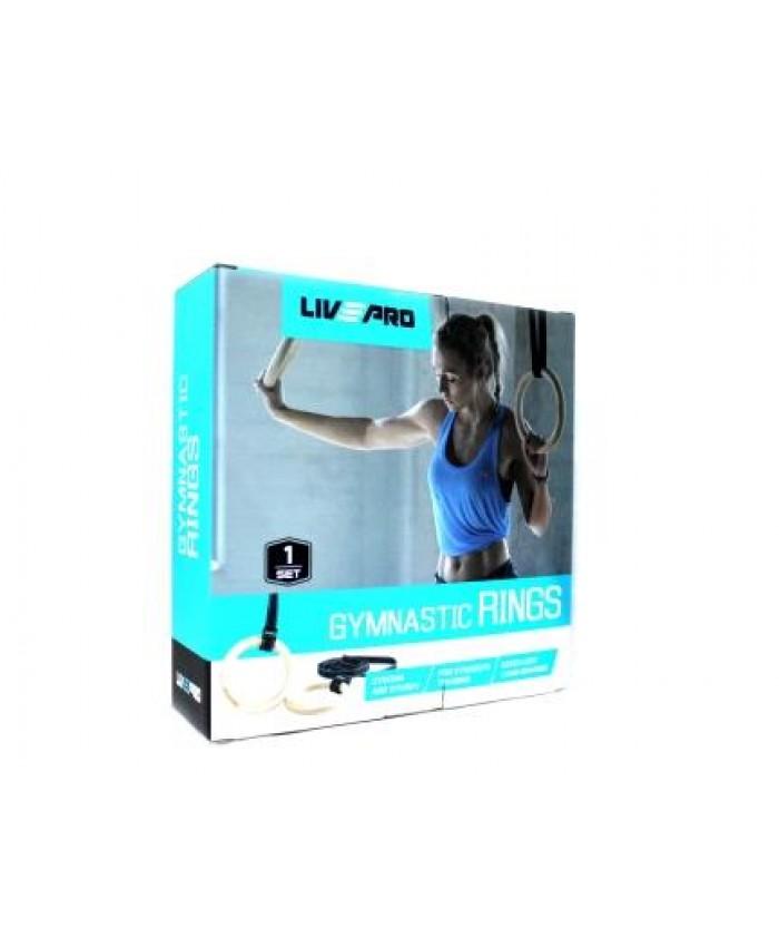Гімнастичні кільця LivePro WOOD GYM RING