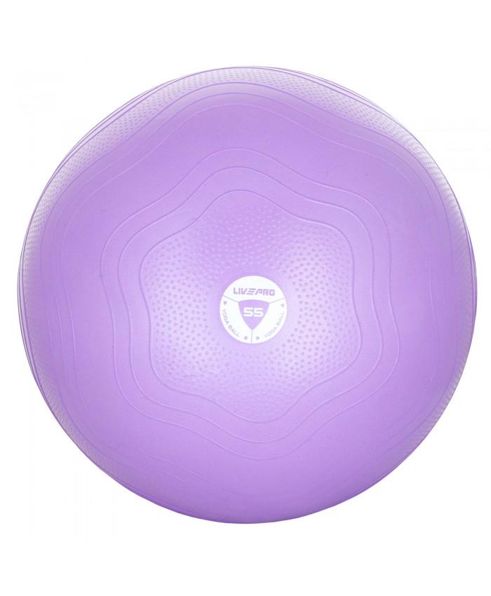 фітбол укріплений LivePro ANTI-BURST CORE-FIT EXE фіолетовий LP8201-55