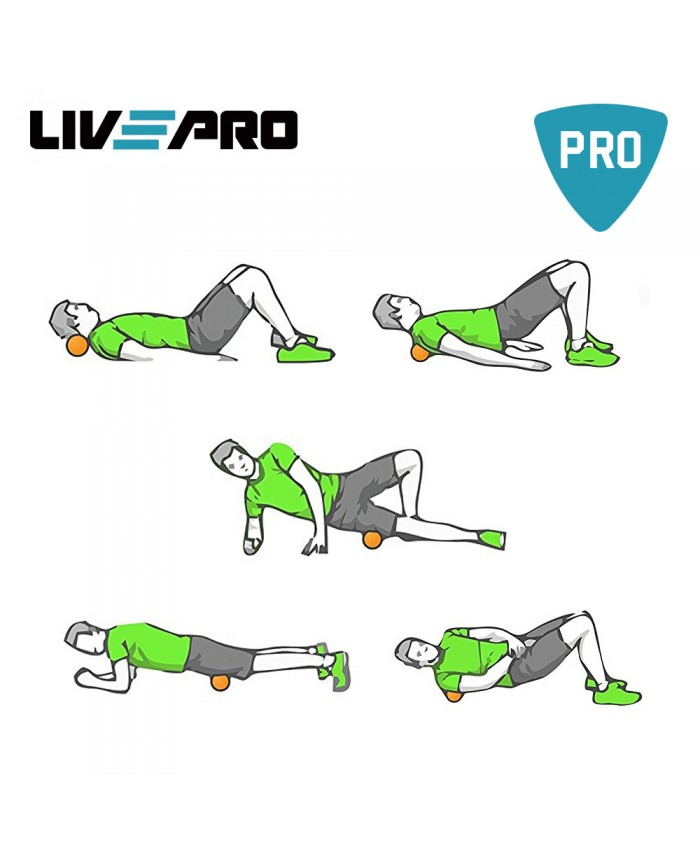 м'ячик для масажу LivePro MUSCLE ROLLER BALL помаранчевий LP8501