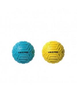 Набор мячиков для массажа 2 шт.  LivePro  Foot Massage Ball голубой/желтый