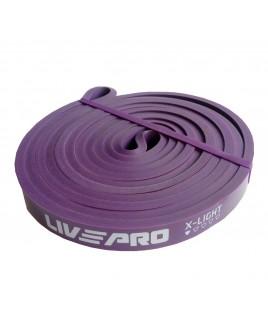 Эспандер для тренировок  LivePro  SUPER BAND X-light  фиолетовый LP8410-XL