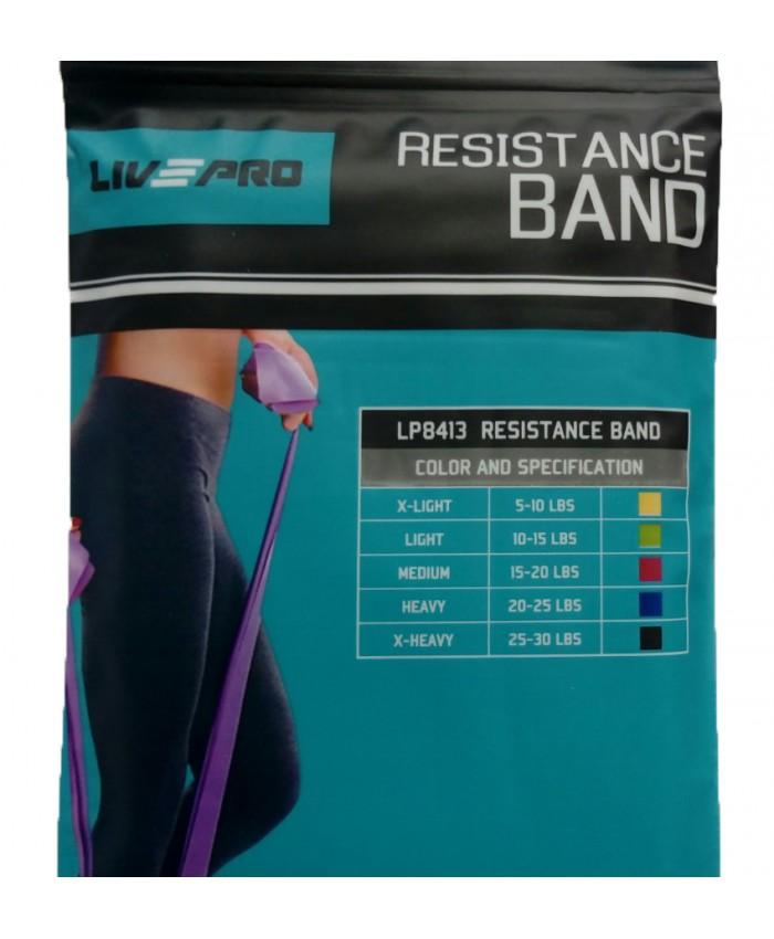 Эспандер-лента  LivePro  RESISTANCE BAND Light зеленый LP8413-L