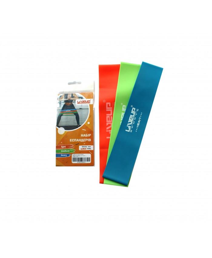Еспандер-петля, Набір з 3 шт. LiveUp LATEX LOOP LS3650-500L / M / H