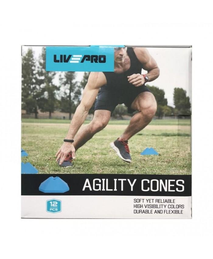 Координационные фишки LivePro  Agility Cones 12 шт