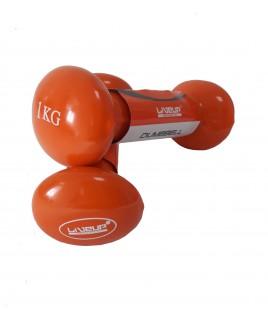 Гантели пара LiveUp  VINYL DUMBBELL  EGG HEAD-2*1KG LS2001-1