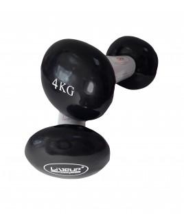 Гантели пара LiveUp  VINYL DUMBBELL EGG HEAD-2*4KG LS2001-4