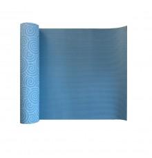 Йога-коврик  LiveUP  PVC PRINTED YOGA MAT  синий LS3231C-08b