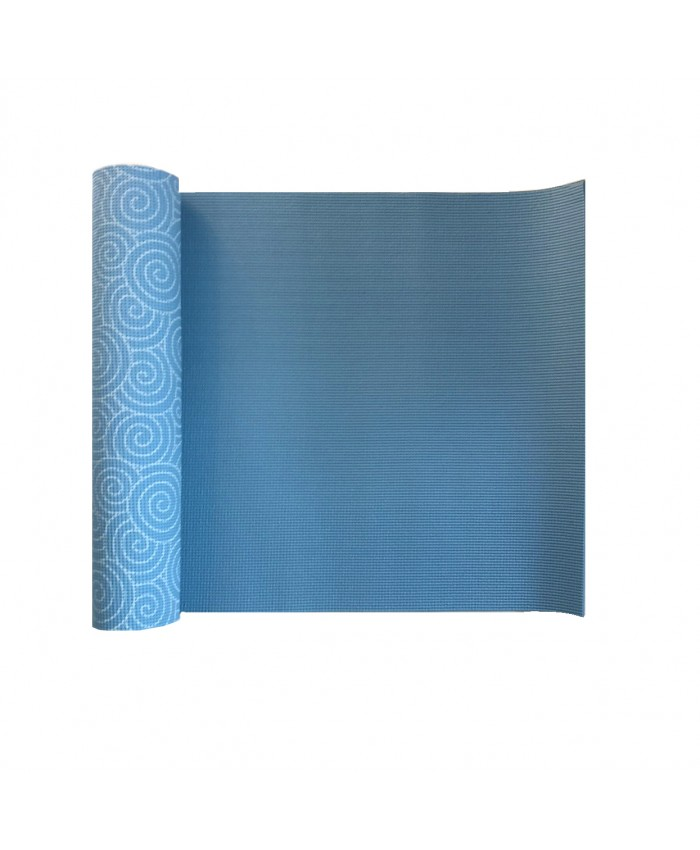 Йога-килимок LiveUP PVC PRINTED YOGA MAT синій LS3231C-08b