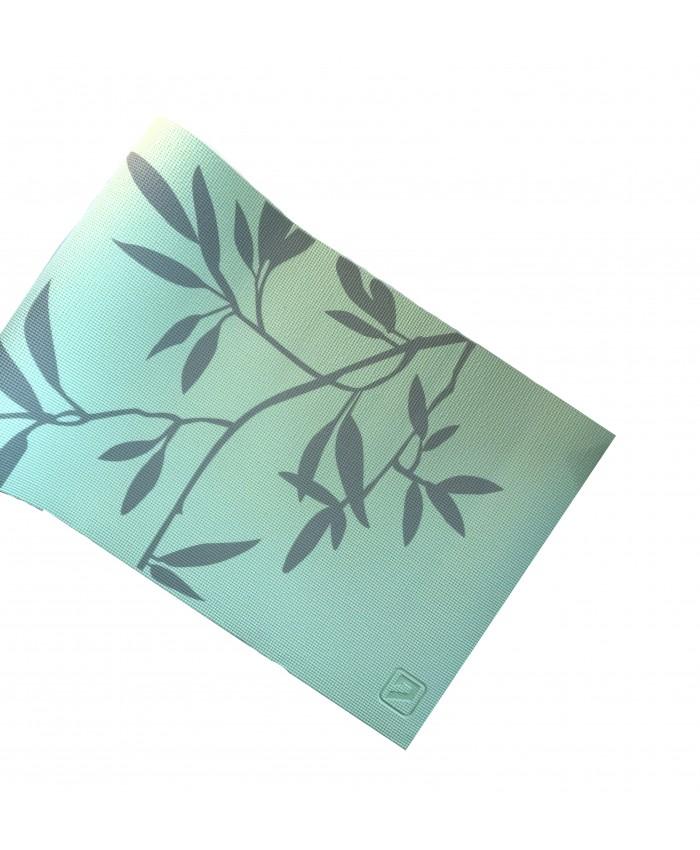 Йога-килимок LiveUP PVC PRINTED YOGA MAT зелений LS3231C-08grn