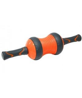 Ролик для преса и массажа  LiveUp  AB WHEEL  оранжевый/черный