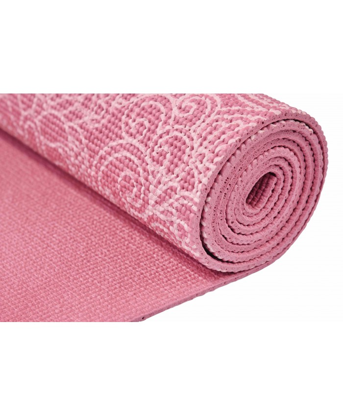 Йога-килимок LiveUP PVC PRINTED YOGA MAT червоний LS3231C-08r