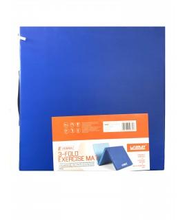 Коврик для тренировки складной  LiveUP  3-FOLD EXERCISE MAT синий/голубой