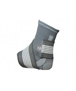 Фіксатор щиколотки LiveUP ANKLE SUPPORT сірий / білий LS5674-L