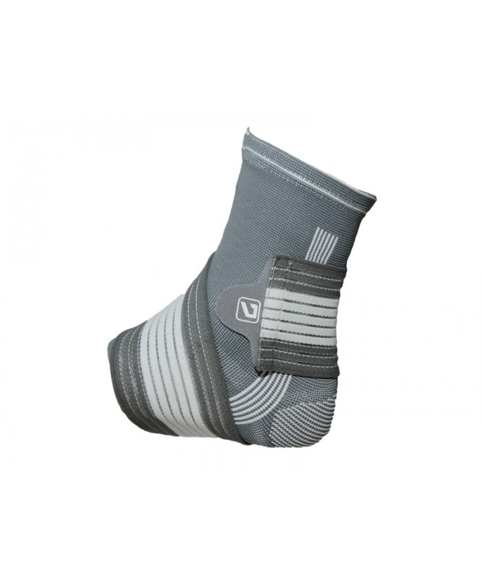 Фіксатор щиколотки LiveUP ANKLE SUPPORT сірий / білий LS5674-M