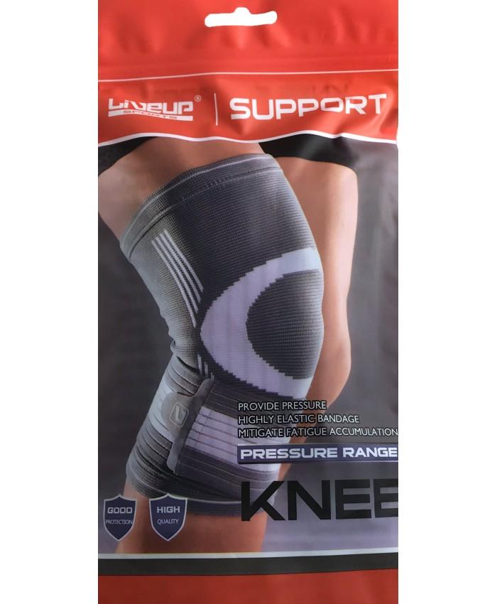 Фиксатор колена  LiveUP  KNEE SUPPORT  серый/белый LS5676-S