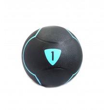 Медбол Livepro SOLID MEDICINE BALL чорний 1 кг