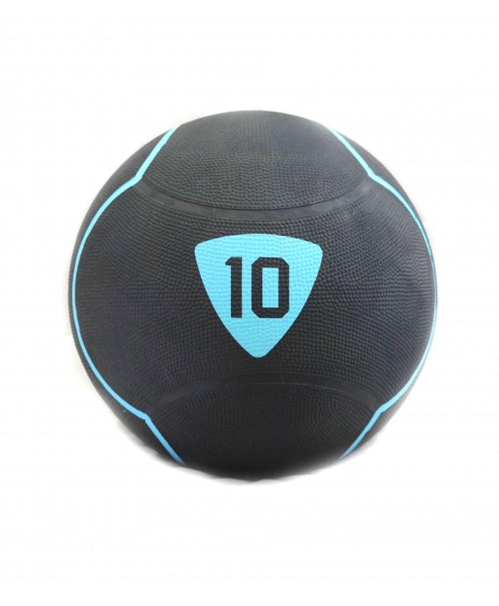 Медбол Livepro SOLID MEDICINE BALL чорний 10кг